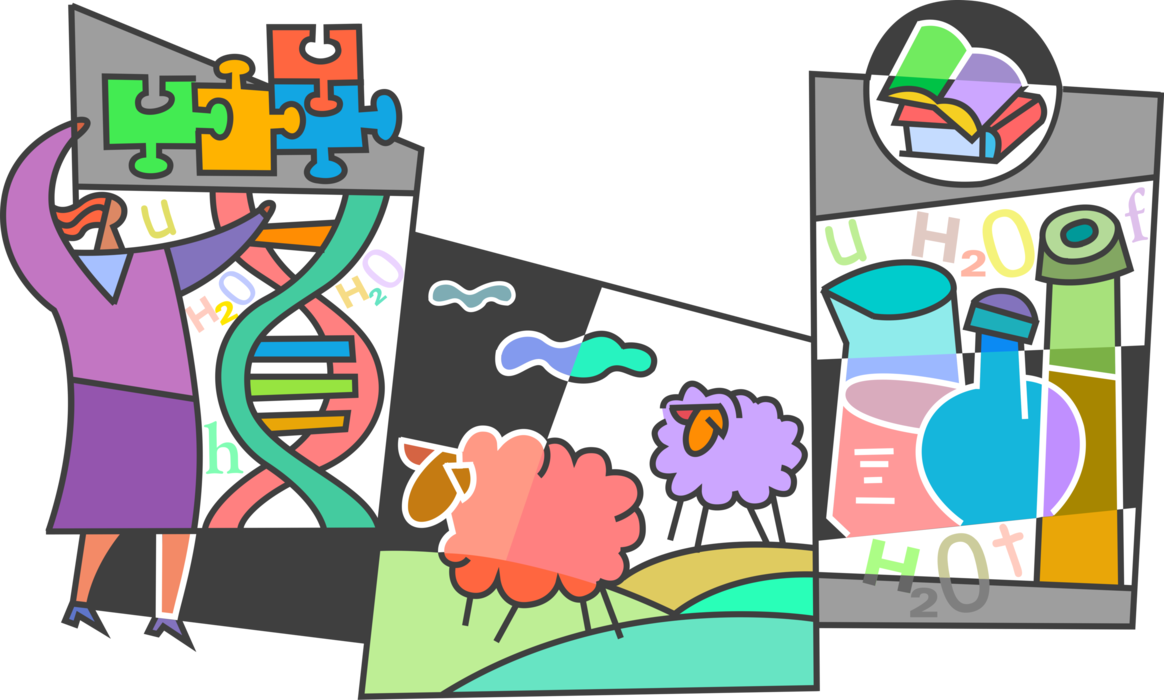 Cloning produces identical cells. Dna clipart biotech