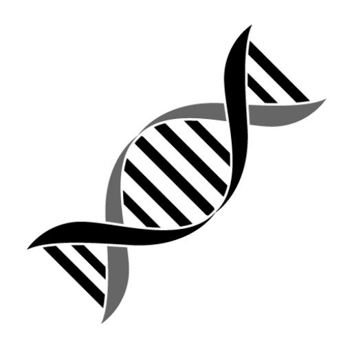 Cropped pn png . Dna clipart black and white