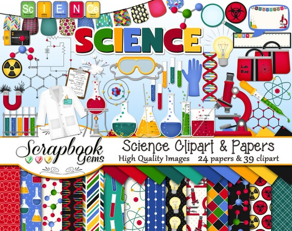 Dna clipart jpeg. Science and papers kit