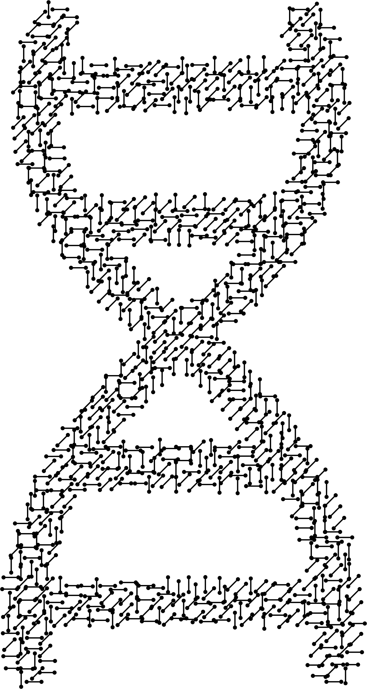 Molecular helix big image. Dna clipart line