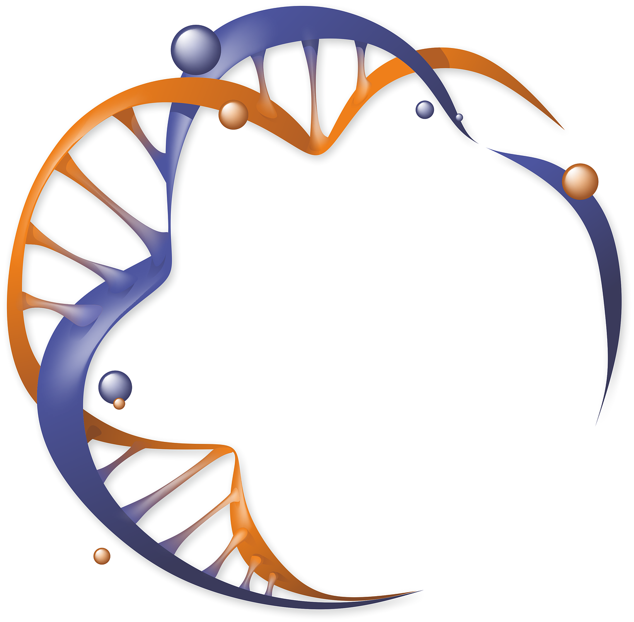 Logo organic biology free. Dna clipart nature science