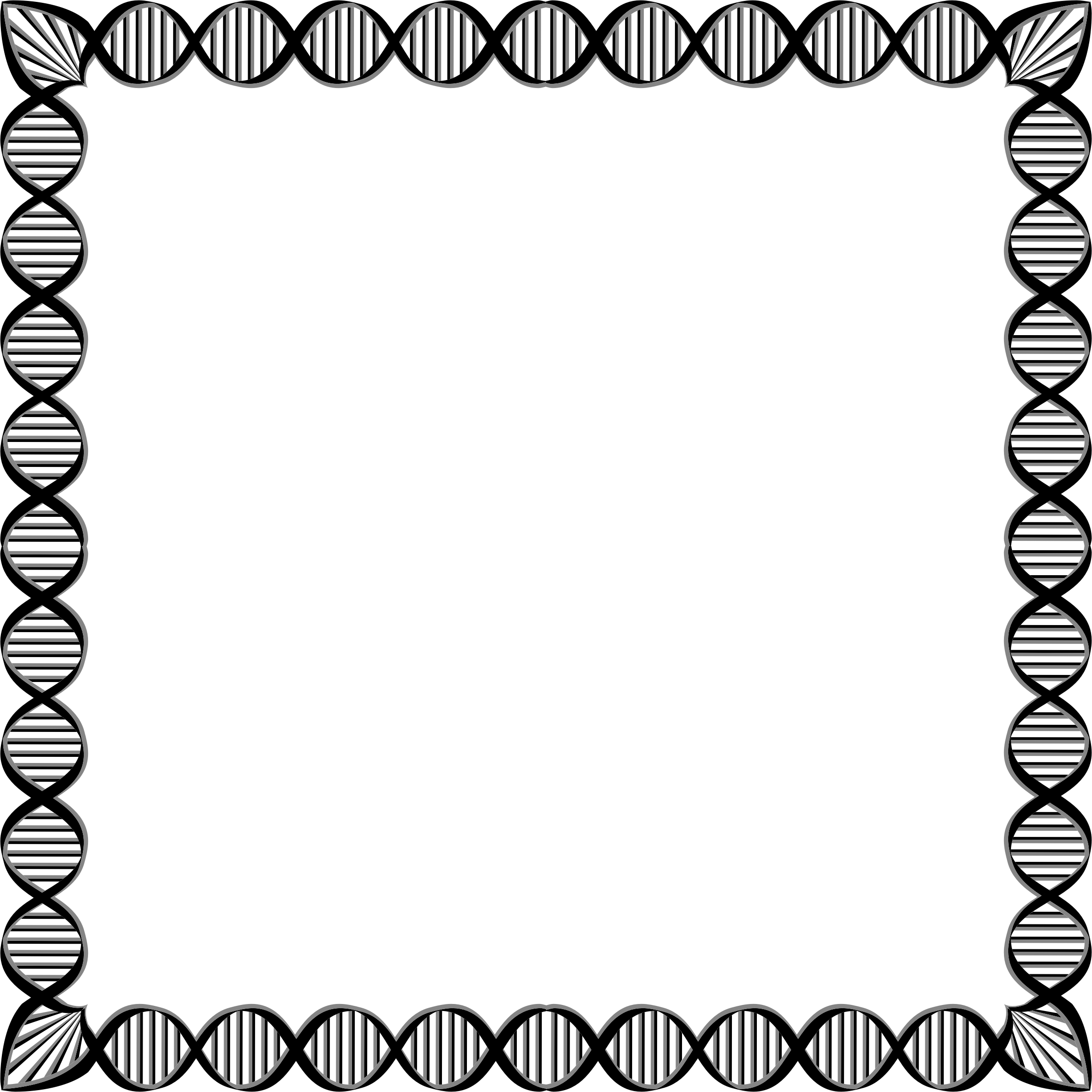 Dna square big image. Chemistry clipart borders