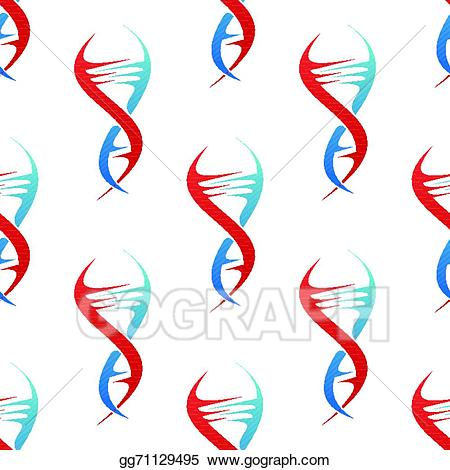 Dna clipart stylized. Eps illustration spiral helix