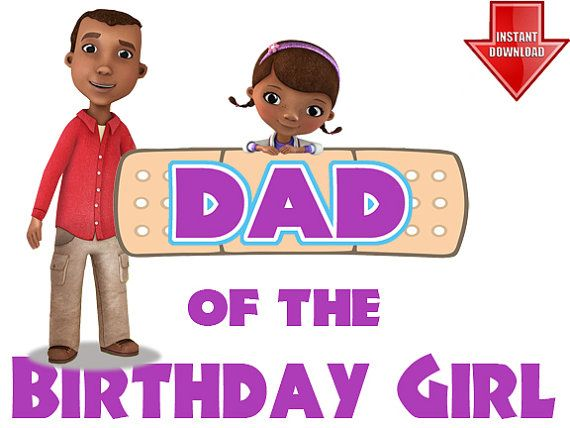 Doc mcstuffins clipart dad. Disney of the birthday