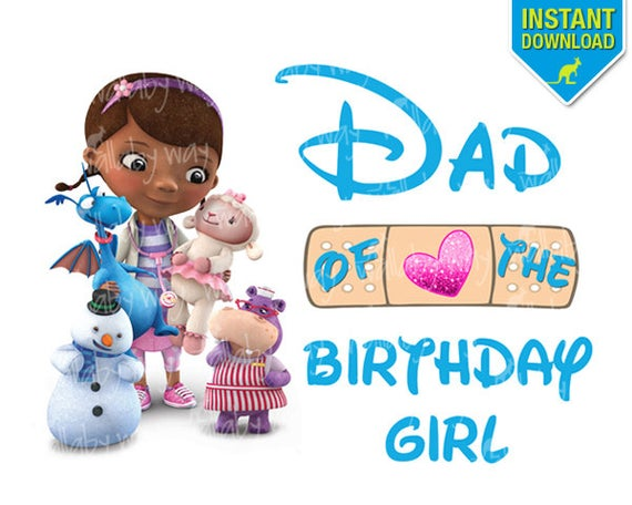Birthday of the girl. Doc mcstuffins clipart dad