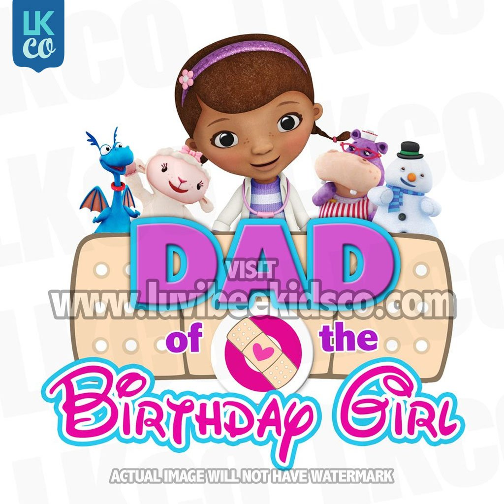 Doc mcstuffins clipart dad. Iron on transfer bandaid