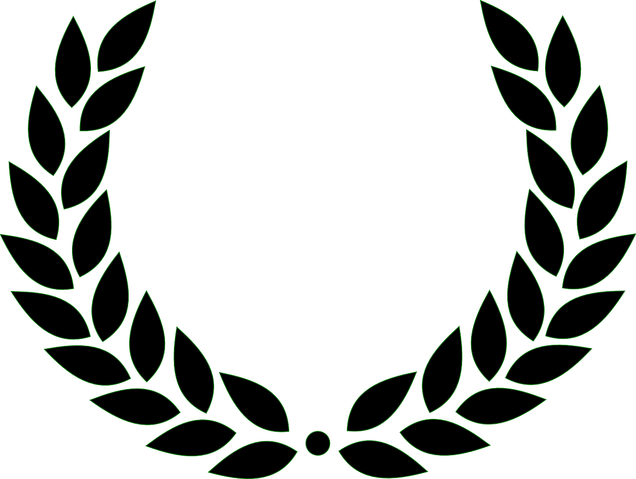 Silver standard performance award. Laurel clipart garland