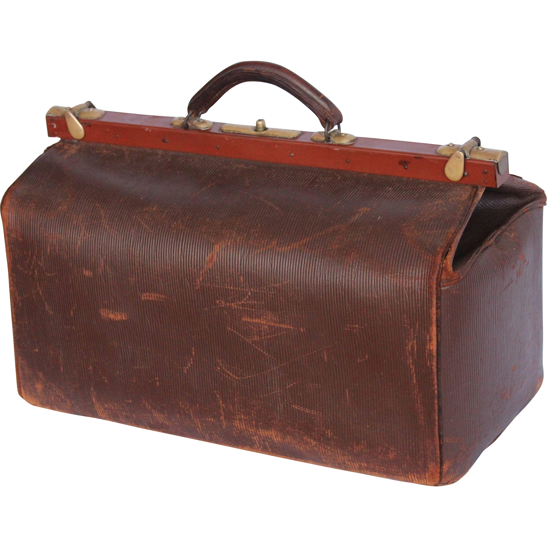 Old fashioned medical bag. Doctors clipart briefcase
