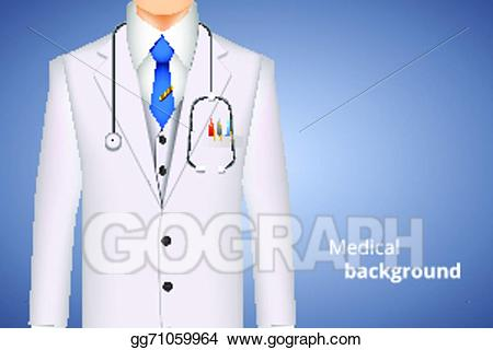 Doctor clipart clothing. Vector illustration lab white