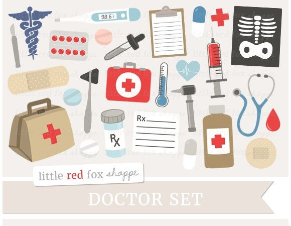 Medical printables . Doctor clipart collage