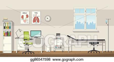 Doctor clipart doctor office. Vector art illustration of