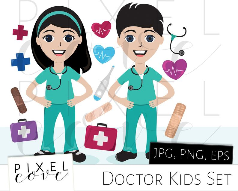 Doctor clipart ethnic. Kids with accessories friends