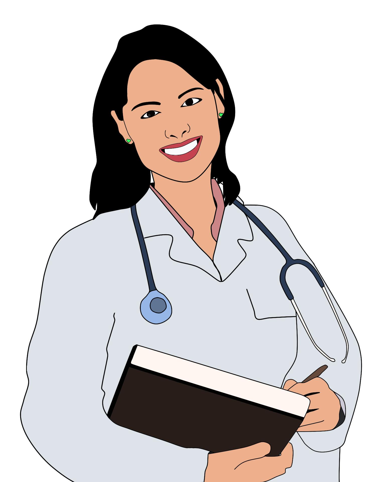 Station . Doctor clipart lady doctor