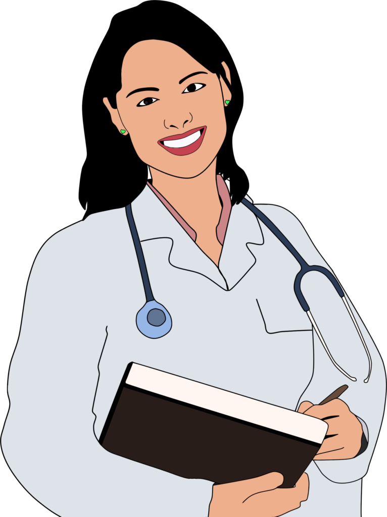 Lady clipart professional woman. Young female doctor of