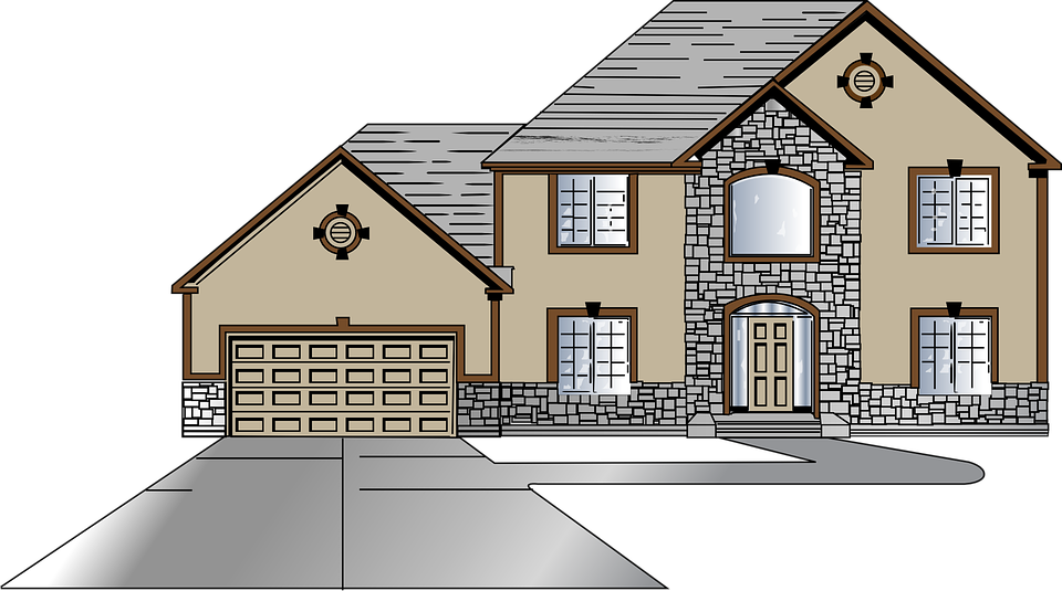 Houses clipart logo. Buildings outside clipground free