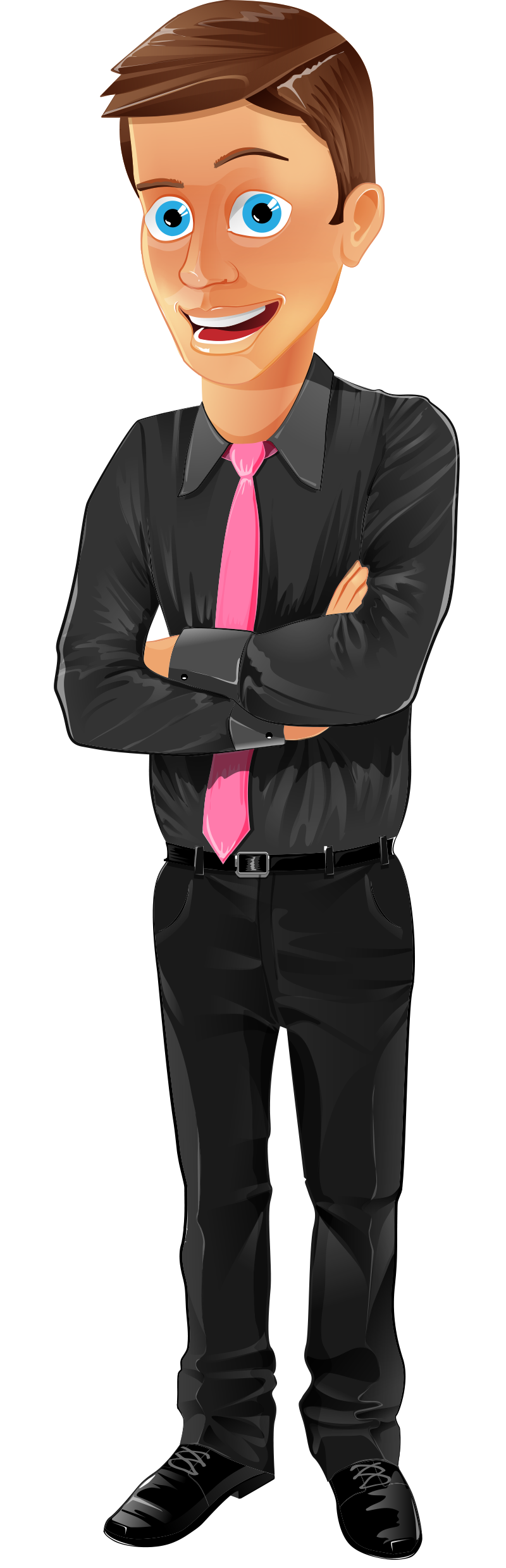 Office assistant vector character. Young clipart young gentleman