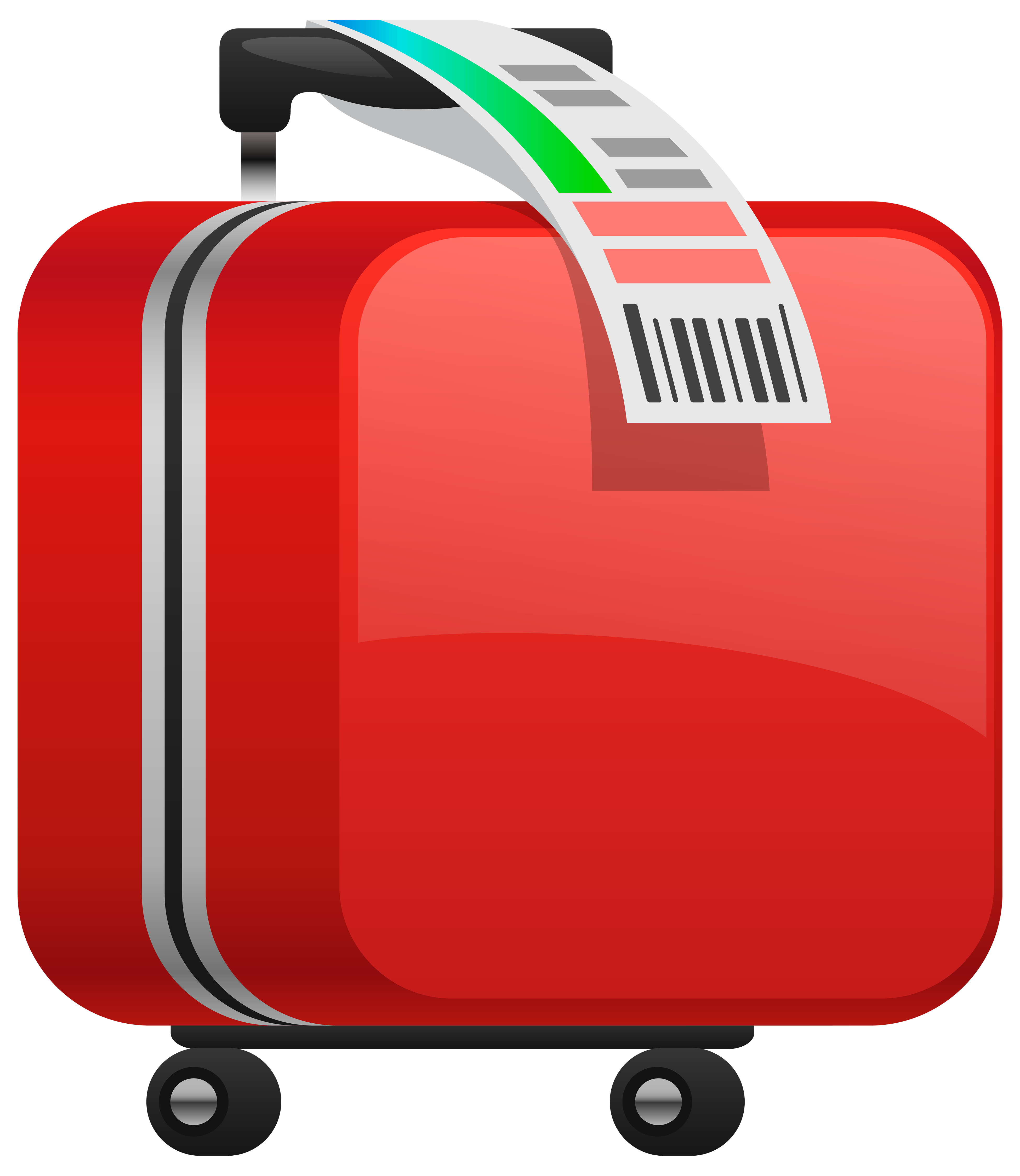 Download suitcase png image. Footsteps clipart red