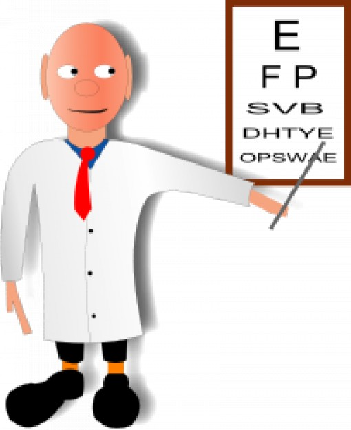 Doing a eyes vector. Doctor clipart test
