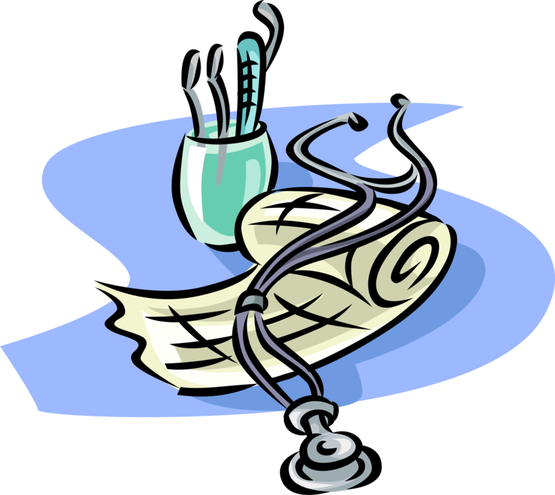 Doctor s stethoscope and. Doctors clipart bandage