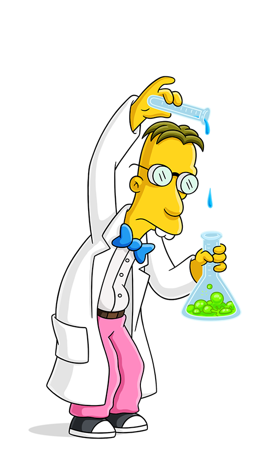 Doctors clipart scientist. Professor frink simpsons world