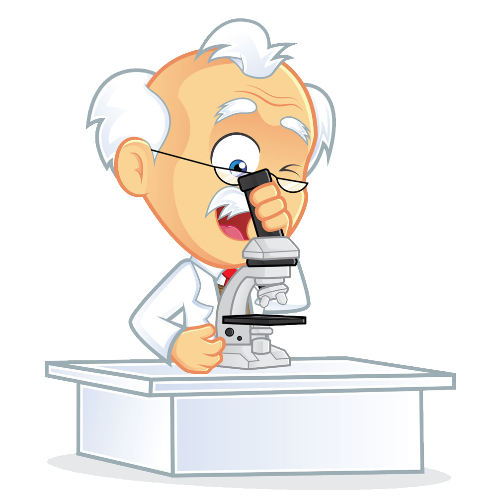 Humans clipart scientific observation. Microscope cartoon laboratory clip