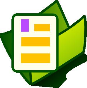 Document clipart. Folder clip art at