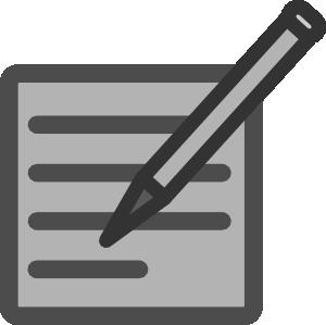 Written clip art at. Document clipart