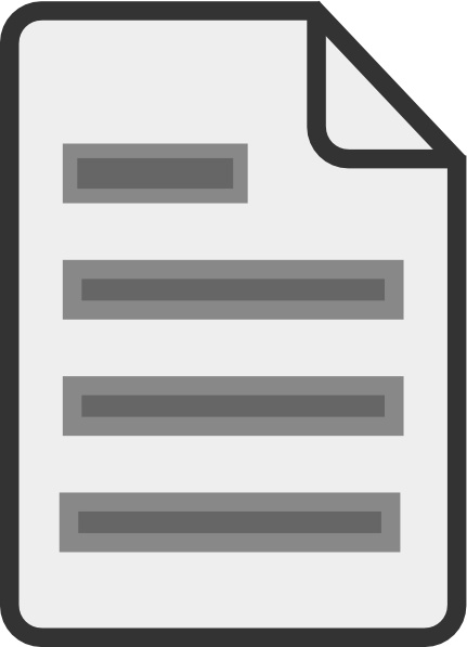 Document clipart. Icon clip art free