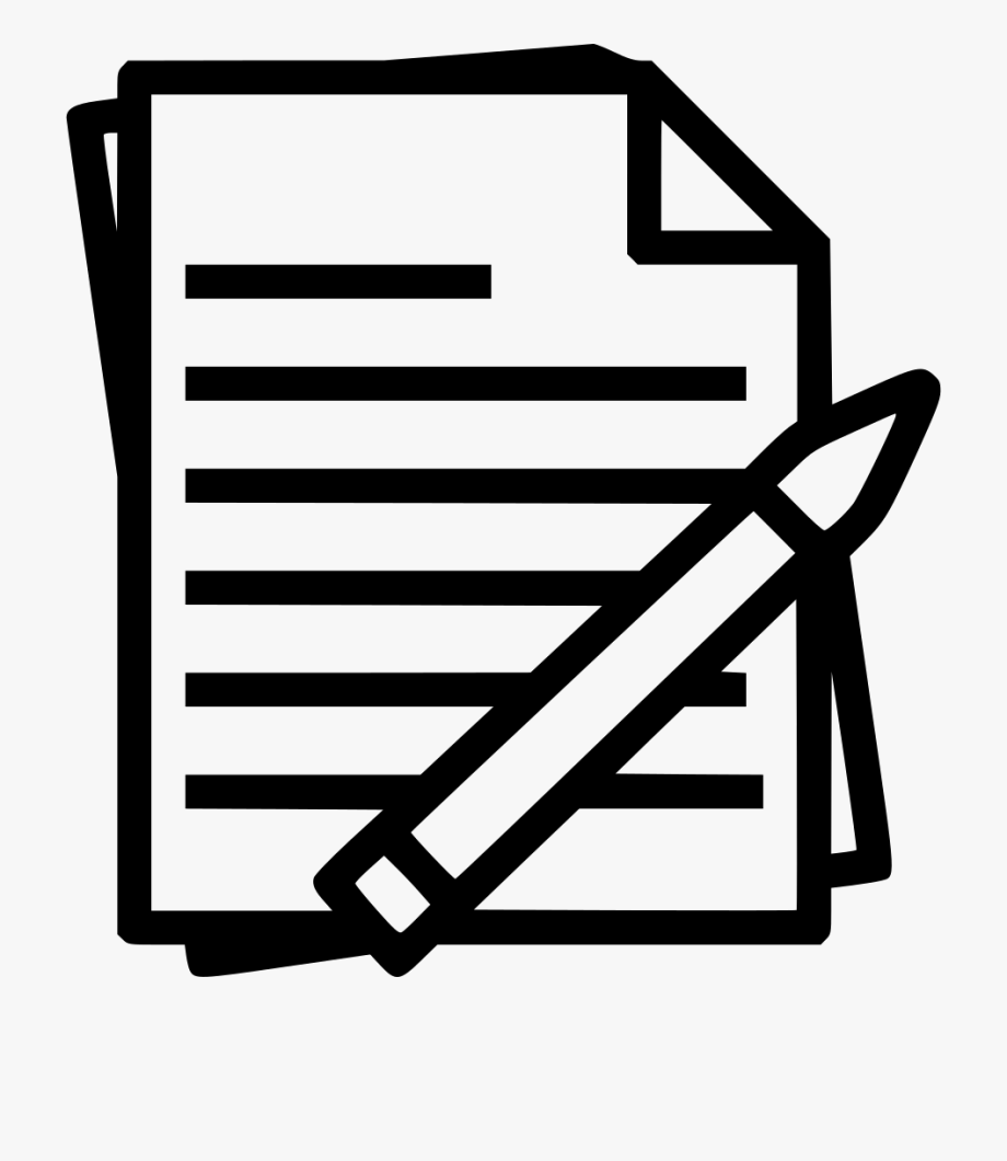 Study clipart study notes. Paper document black and