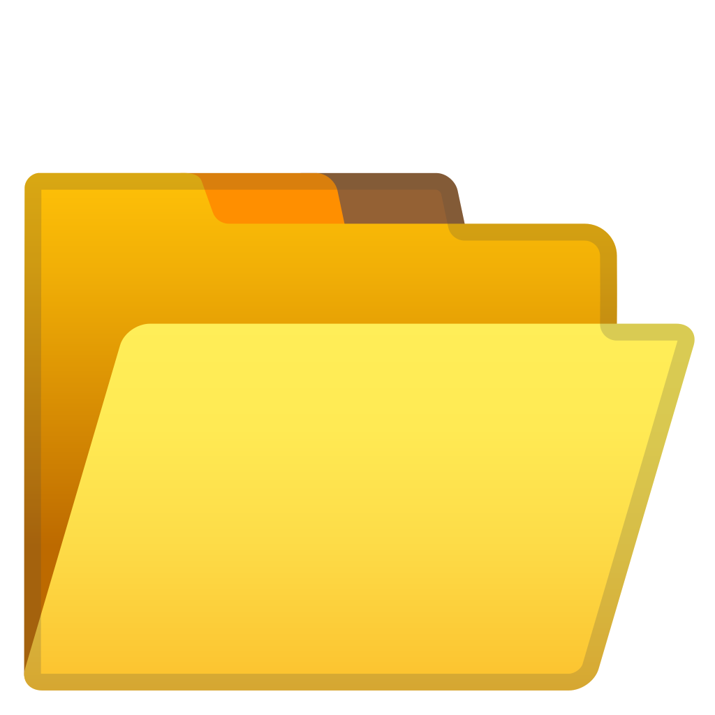 Open file folder icon. What opens png files