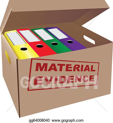 Evidence clipart evidence box. Vector stock illustration gg