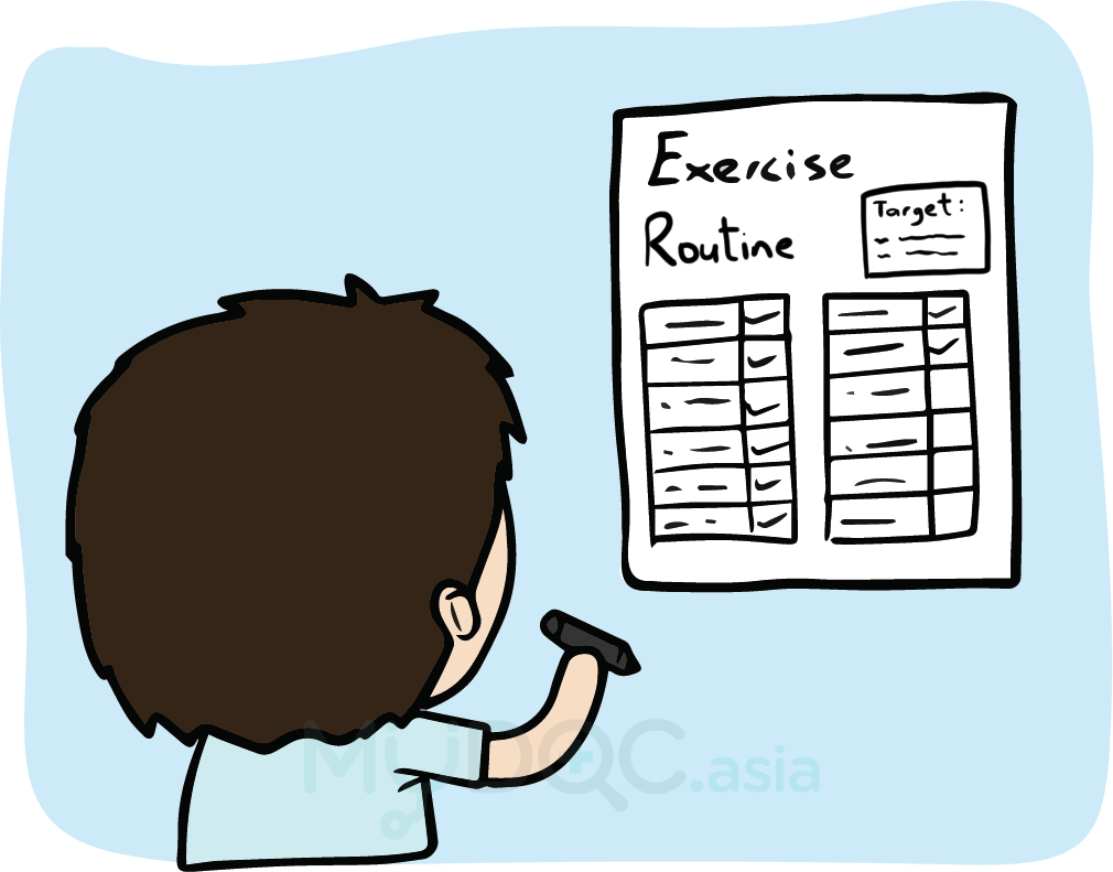 I m exercising but. Document clipart exercise plan