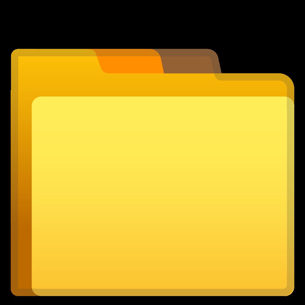 Folder icon noto emoji. Secret clipart file