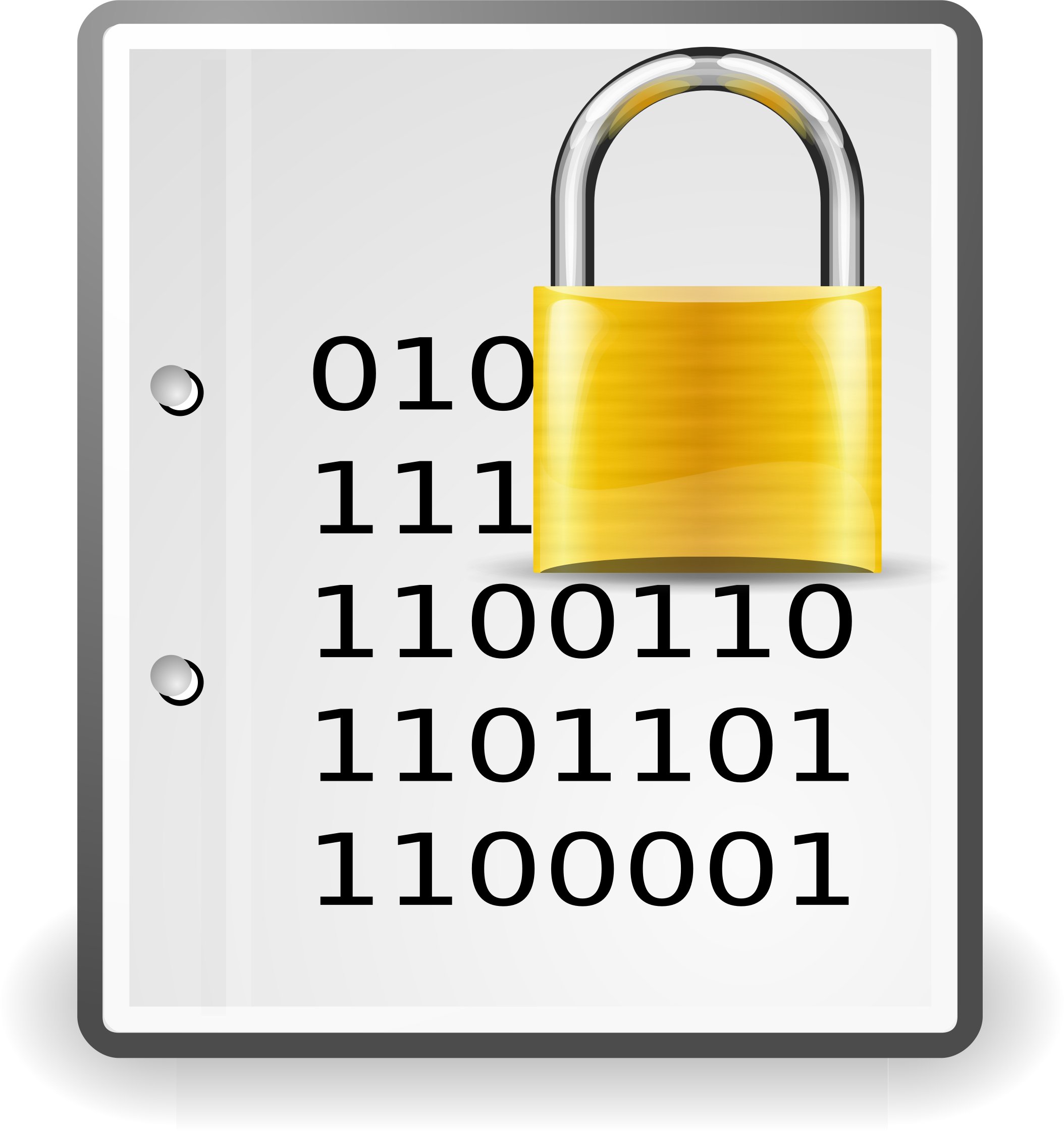 Document clipart generic. Encrypted gold big image
