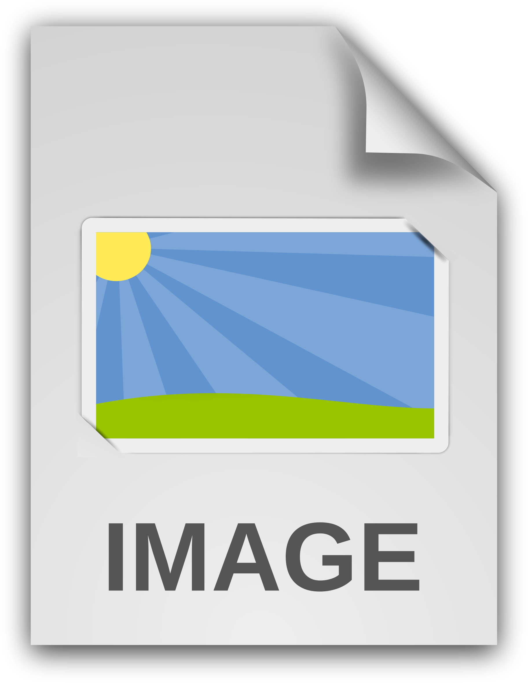 Image icon big png. Document clipart generic