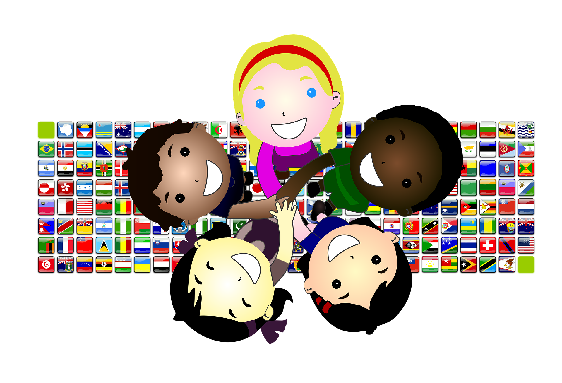 Volunteering clipart multicultural. Children lincoln park elementary