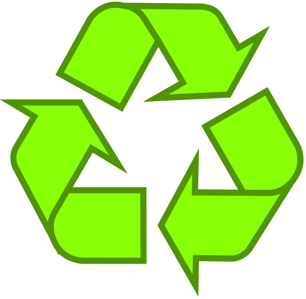 Garbage clipart buang. Download recycling symbol the