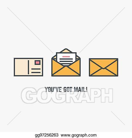 Eps illustration you ve. Document clipart mail