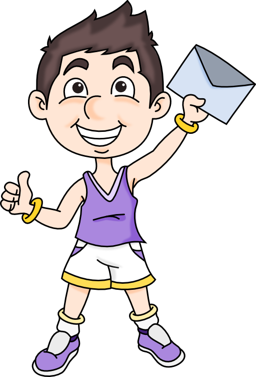 Boy i royalty free. Document clipart mail