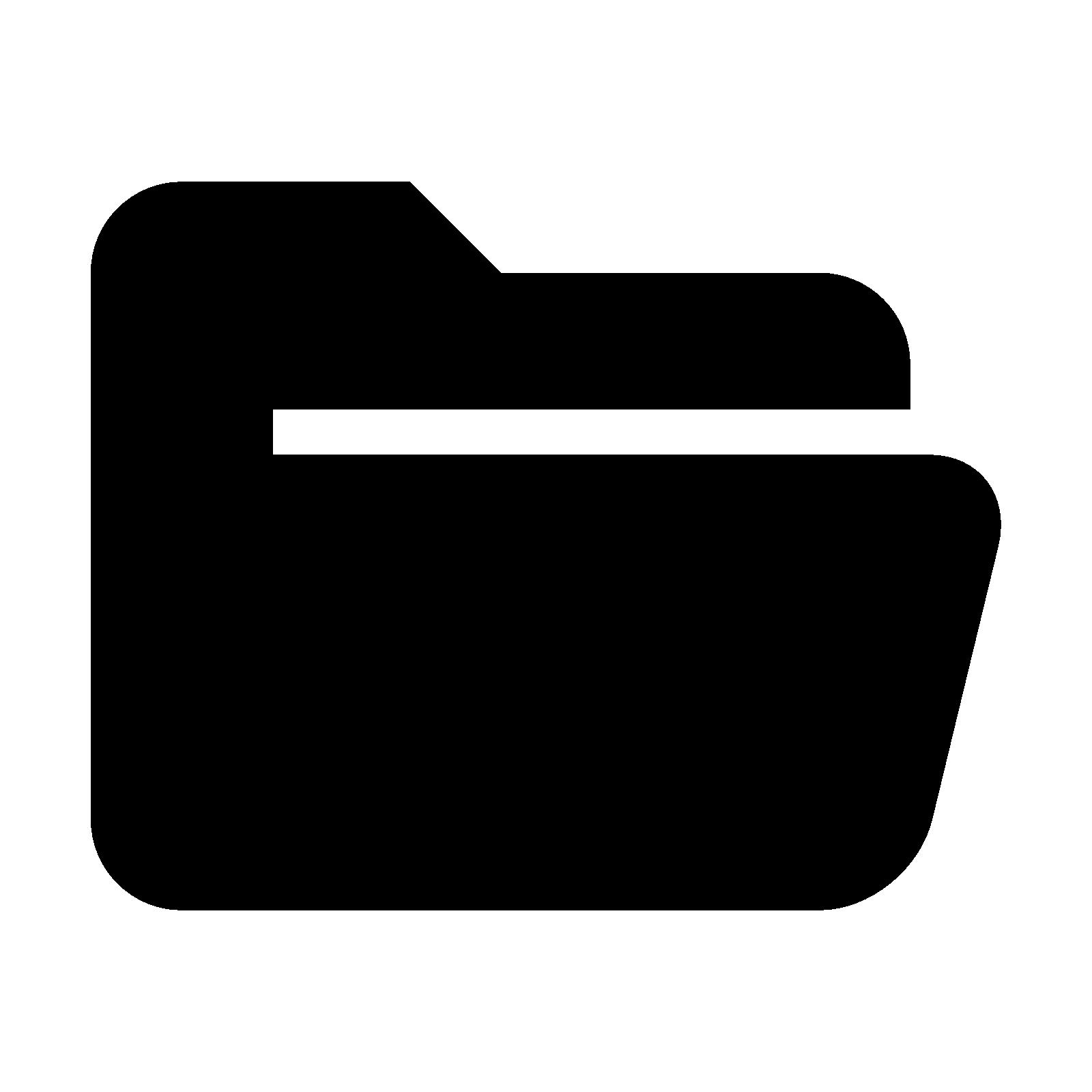 White clipart folder. Logos