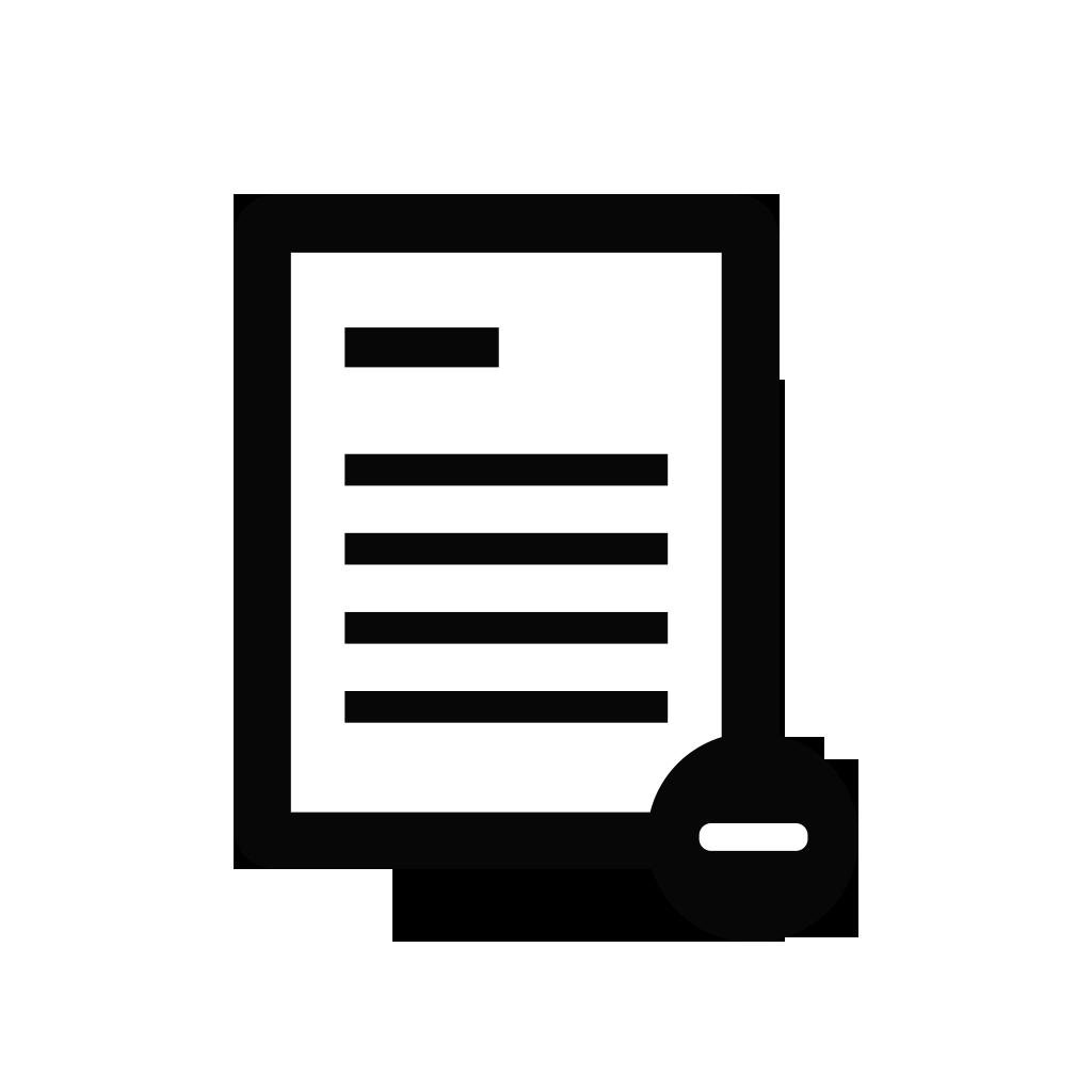 Document clipart paper. Delete documents file files