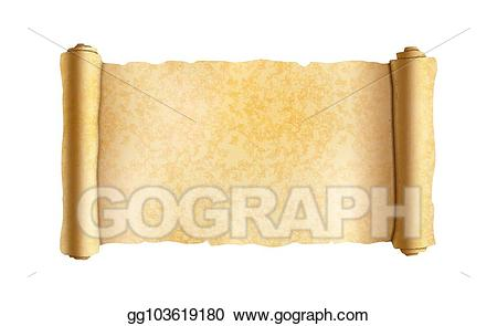 Vector stock old textured. Document clipart papyrus scroll