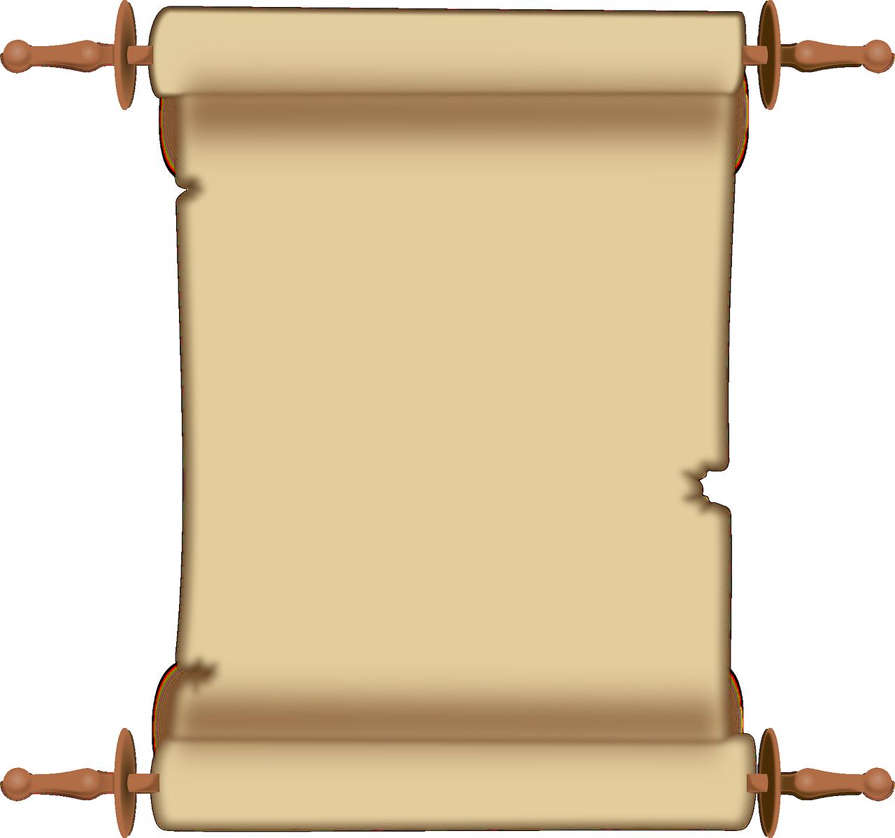 Document clipart papyrus scroll. Gratis afbeelding op pixabay