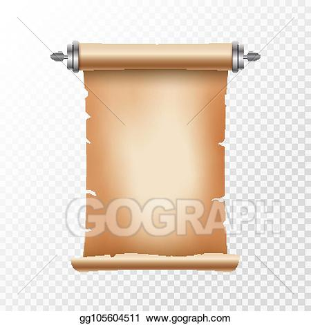 Document clipart papyrus scroll. Vector old ancient paper
