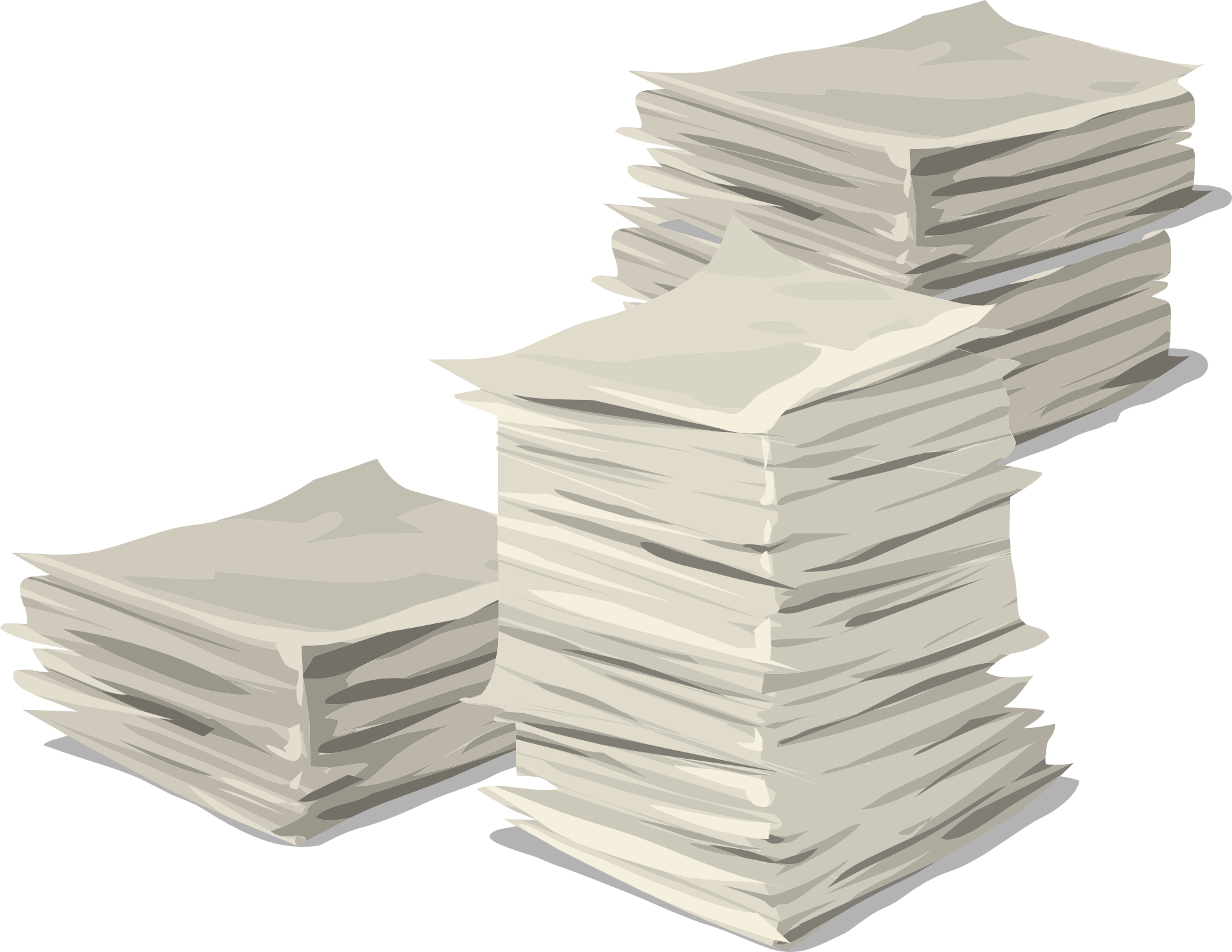 Papers stack heap documents. Document clipart pile document