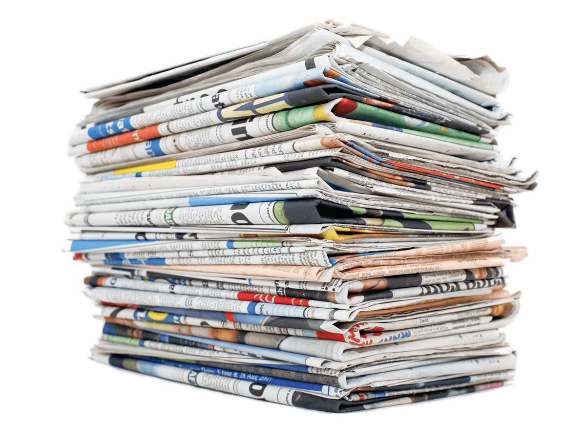 Document clipart pile document. Of newspapers transparent png