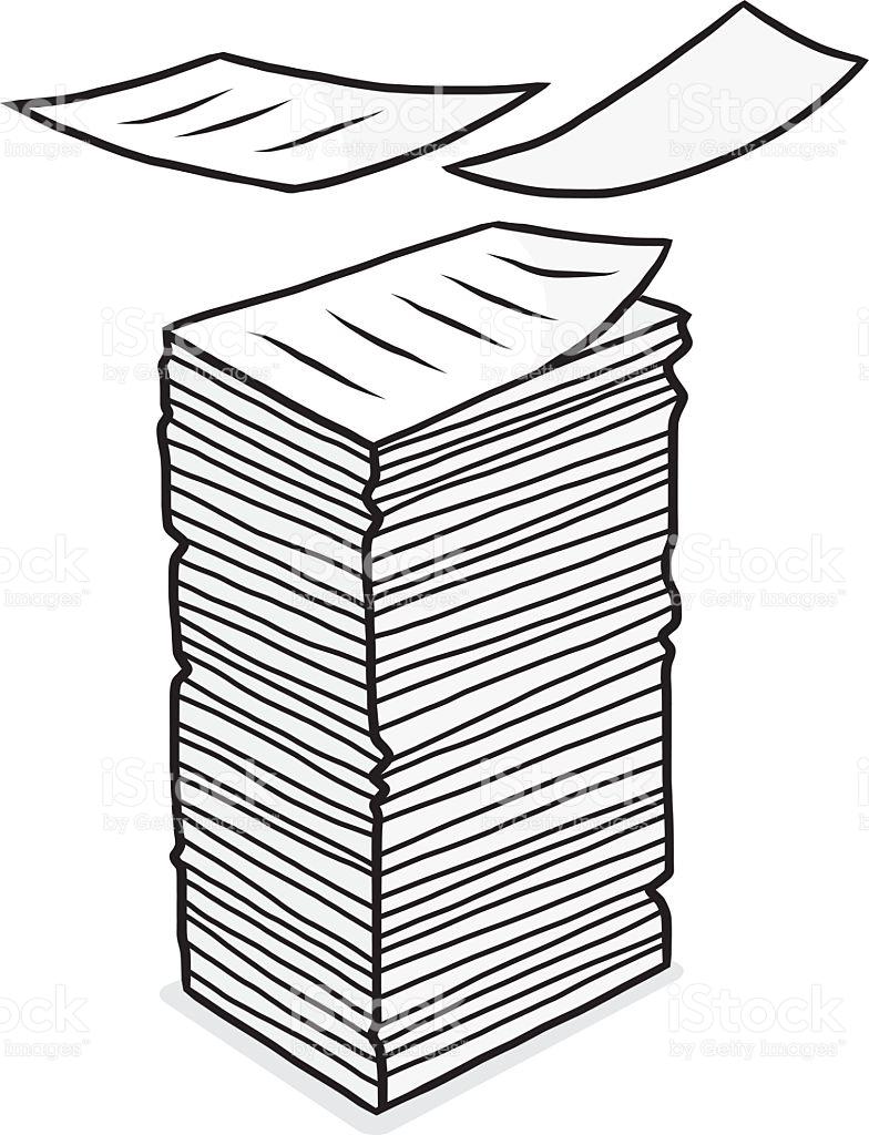 Document clipart pile document. De documents station