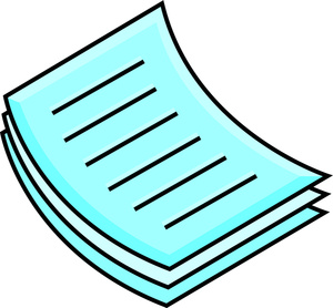 Documents image or papers. Document clipart pile document