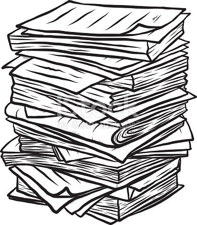 Document clipart pile document. De documents station in