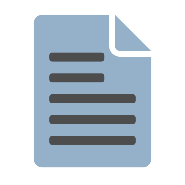 Icon steel blue clip. Document clipart text